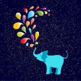 Elepant on confetti background stock illustration