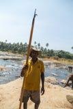 Elepants Bathing in River Sri Lanka, Ceylon Stock Photography