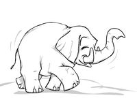 Elephant. Line art Royalty Free Stock Photography