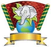 Elephant. Template Zoo theme (Elephant Cartoon royalty free illustration