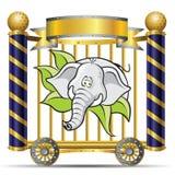 Elephant. Template Zoo theme (Elephant Cartoon stock illustration
