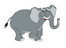 Elephant. Vector illustration for works Royalty Free Stock Photos