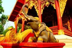 Elephant. In the thai temple stock photos