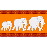 Elephant. Seamless background with elephant silhouettes Royalty Free Stock Images
