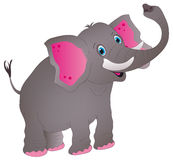 Elephant. Vector illustration shows a jolly elephant stock illustration