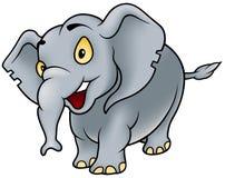 Elephant. Cheerful Cartoon Illustration, Vector Royalty Free Stock Photo