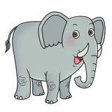 Elephant. Cartoon animal icon - elephant smiling Stock Image