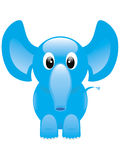 Elephant. Happy and cheerful blue elephant Royalty Free Stock Photography