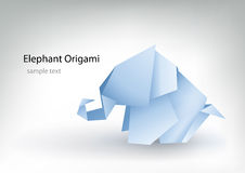 Elephant. Origami elephant for your designs Royalty Free Stock Photography