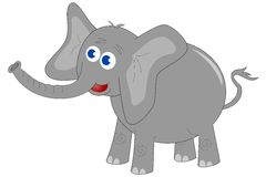 Elephant. Illustration of an elephant isolated on white background. Eps file is available Stock Illustration