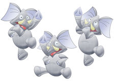 Elephant. Funny elephant. clipping path included Stock Photography
