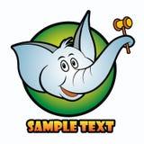 Elephant. Vector illustration of elephant background royalty free illustration