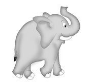 Elephant. Happy and cheerful elephant an illustration image Royalty Free Stock Images