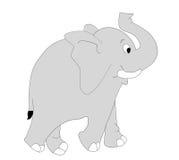 Elephant. Happy and cheerful elephant an illustration Royalty Free Stock Photo