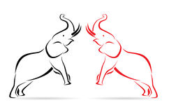 Elephant. Vector image of an elephant Royalty Free Stock Photo