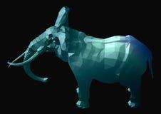 Elephant. Glassy elephant Royalty Free Illustration