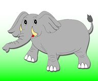 Elephant. Vector illustration of a big elephant Stock Photos