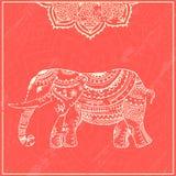 Elephant4 stock illustrationer