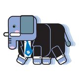 Elephant. Character in business man suit vector illustration isolated Royalty Free Stock Photos