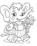 Elephant. Illustration of the amusing elephant schoolboy Royalty Free Stock Images