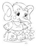 Elephant. Illustration of the elephant worker Stock Images