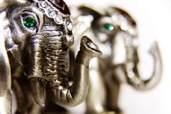 Elephant. Silver elephant figure, a concept so Stock Photo