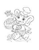 Elephant. Illustration of the amusing elephant Stock Image