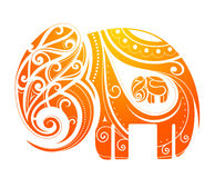 Elephant abstraction Stock Images