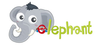 Elephant alphabet Royalty Free Stock Photo