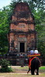 Elephant at Angkor Wat temple ruins. In Cambodia Royalty Free Stock Photo