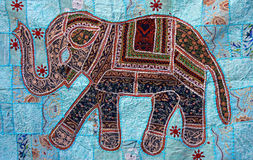 Elephant animal on carpet Stock Image