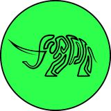Elephant animal isolated art line vector icon vector illustration