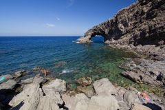 Elephant arc. A view of Elephant arc Pantelleria,Italy Stock Image