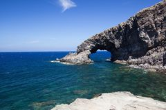 Elephant arc. A view of Elephant arc Pantelleria,Italy Royalty Free Stock Images