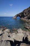 Elephant arc. A view of Elephant arc Pantelleria,Italy Royalty Free Stock Image