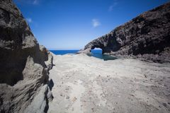 Elephant arc. A view of Elephant arc Pantelleria,Italy Stock Images