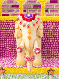 Elephant art is made from sesame seeds (Flower Festival, Thailand). Elephant art is made from sesame seeds (Chiang Mai Flower Festival, Thailand Stock Images