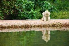Elephant art near the pool Royalty Free Stock Photo