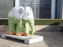 Elephant art work in Luxembourg Stock Photography