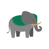Elephant as Sacred animal icon. Indian Culture design. Vector gr Stock Images