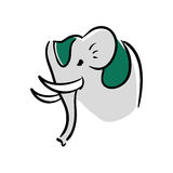 Elephant as Sacred animal icon. Indian Culture design. Vector gr Stock Photo