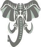 Elephant as a symbol, emblem, logo vector illustration