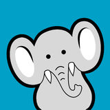 Elephant avatar Royalty Free Stock Image
