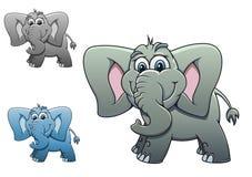 Elephant baby. Cute elephant baby isolated on white background for design Stock Photography