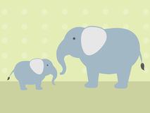 Elephant and Baby Stock Photo