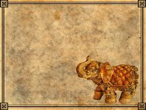 Elephant background. Old paper background with elephant royalty free illustration