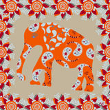 Elephant background in bright  colors, vector Royalty Free Stock Photo