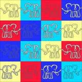 Elephant background.  illustartion Royalty Free Stock Photography