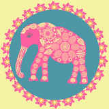 Elephant background in vintage colors, vector Stock Image