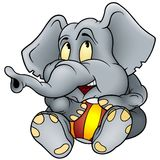 Elephant and ball Stock Images